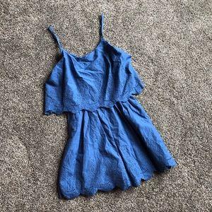Target Xhilaration Blue Handkerchief Style Romper